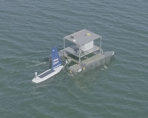 Seacat during demo 2019, deploying Sailbuoy.