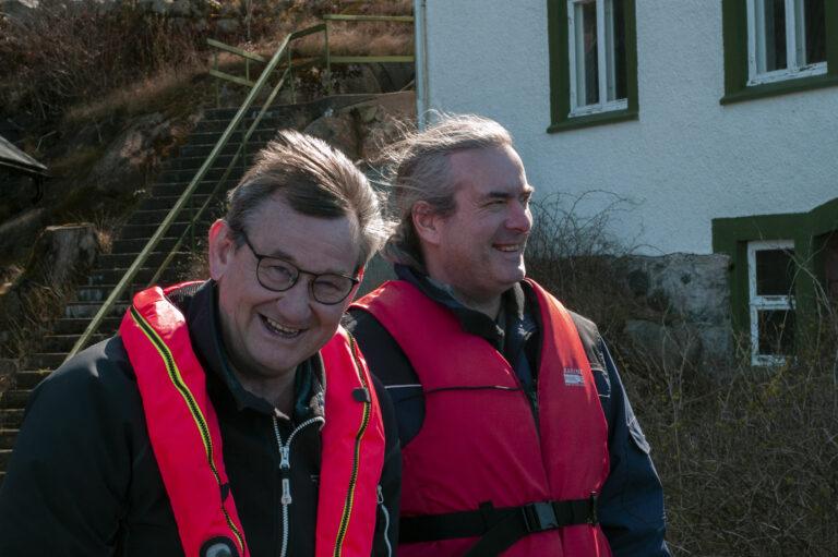 Anders Brodin och Göran Broström på Bornö. Fotograf: Maria Holmkvist